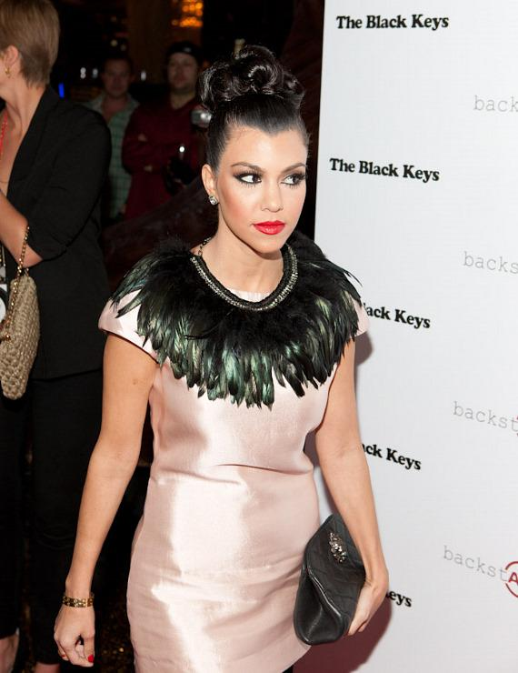 Kourtney Kardashian at Marquee Nightclub
