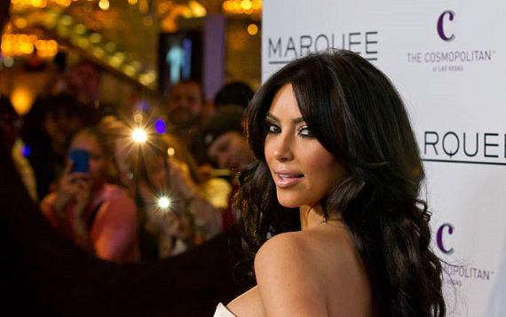 Kim Kardashain appears at Marquee on one of many visits to Vegas in 2011