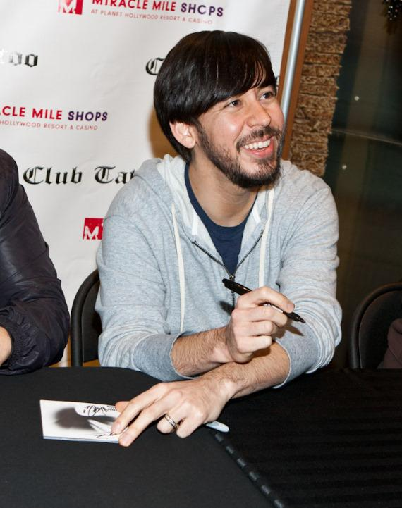 Linkin Park signs autographs at Club Tattoo at Miracle Mile Shops at Planet Hollywood