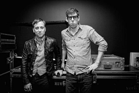 Grammy Award winners, Black Keys pose backstage before their show at the Chelsea Ballroom at The Cosmopolitan of Las Vegas