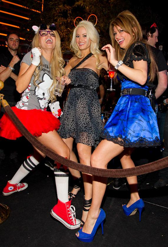 Angel Porrino, Holly Madison and Laura Croft