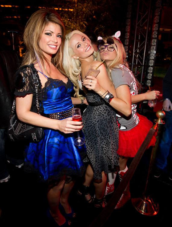 Laura Croft, Holly Madison and Angel Porrino