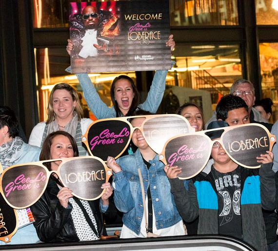 Fans welcome CeeLo Green as he arrives at Planet Hollywood Resort & Casino