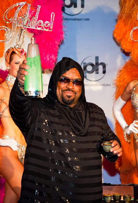 CeeLo Green with showgirls at Planet Hollywood Resort & Casino