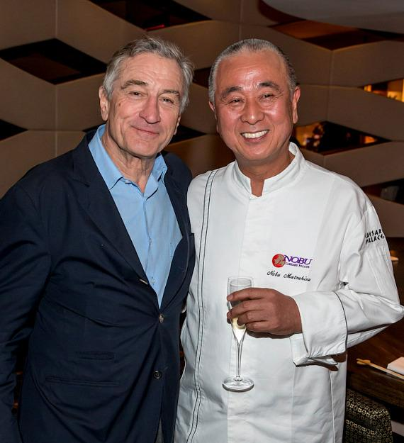Robert DeNiro and Chef Nobu Matsuhisa at Nobu Hotel at Caesars Palace in Las Vegas