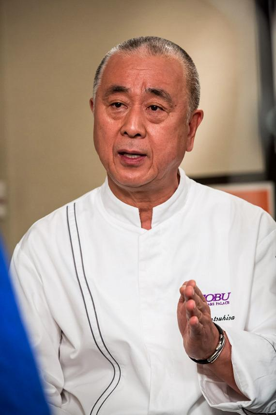 Chef Nobu Matsuhisa during interview at Nobu Hotel