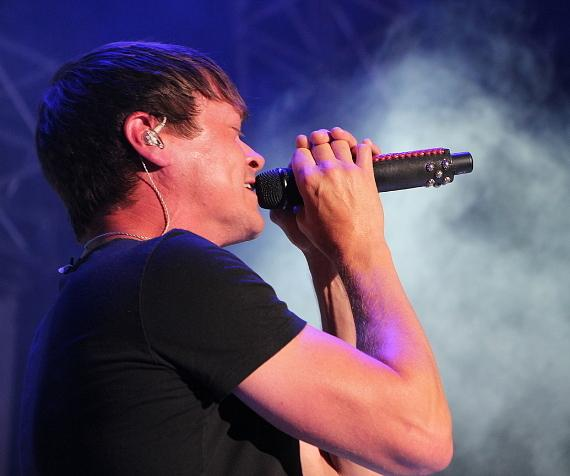 "3 Doors Down singer Brad Arnold at ""Scars And Stripes"" at Downtown Las Vegas Events Center"