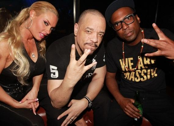 Ice-T and Coco Austin Hang Out at Body English Nightclub & Afterhours in Hard Rock Hotel