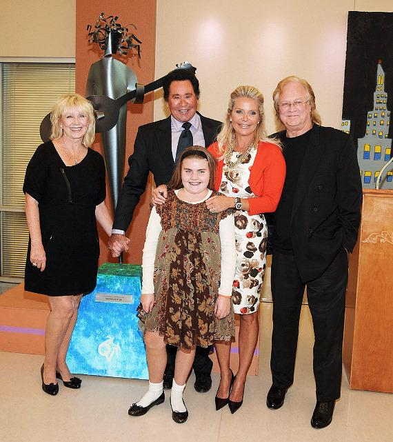 Wayne Newton with wife and daughter at Opportunity Village