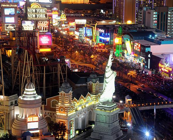 New Year's Eve Fireworks Display to Fire from Seven Rooftop Locations Along the Las Vegas Strip