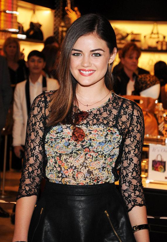 Actress Lucy Hale Hosts Opening of Famed New York Retailer, Henri Bendel, at Fashion Show, Las Vegas