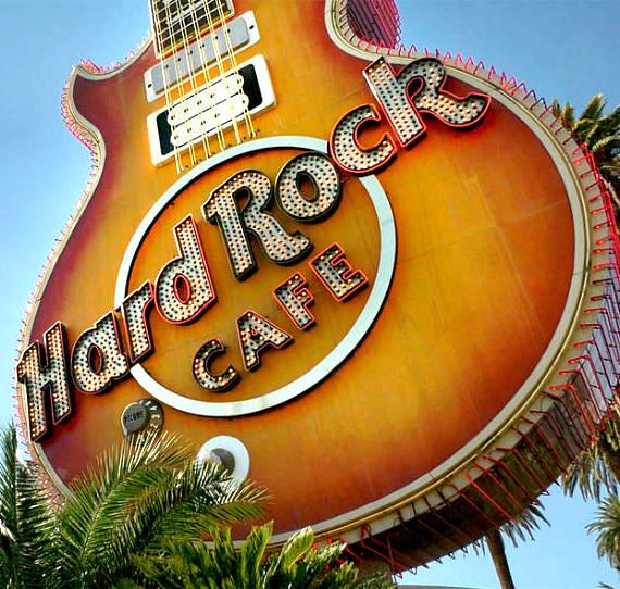 Neon Museum Launches Fundraising Campaign to Restore Hard Rock Guitar Sign