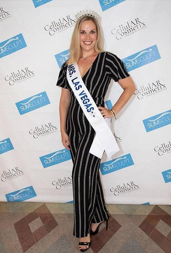 Newly crowned, Katie Ladomerszky , United States of America's Mrs. Nevada