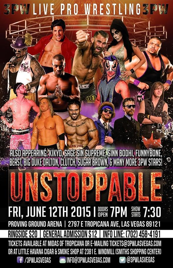 """Power Precision Pro Wrestling (3PW) """"Unstoppable"""" Returns to Proving Ground Arena June12"""