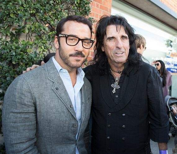 Jeremy Piven and Alice Cooper