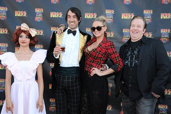 Absinthe stars Penny Pibbets, The Gazillionaire, Angel Porrino and at KISS by Monster Mini Golf Grand Opening in Las Vegas