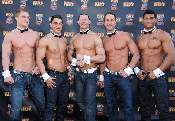 Chippendales dancers at KISS by Monster Mini Golf Grand Opening in Las Vegas