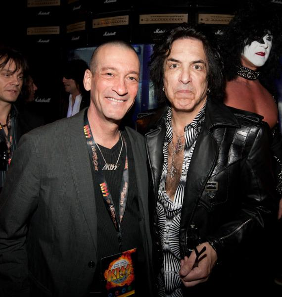KUNV DJ George Lyons and Paul Stanley at KISS by Monster Mini Golf Grand Opening in Las Vegas