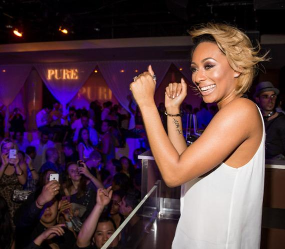 Keri Hilson performs at PURE Nightclub