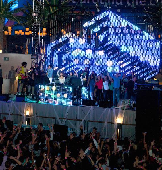 Girl Talk concert by Gregg Gillis at the Boulevard Pool at The Cosmopolitan of Las Vegas