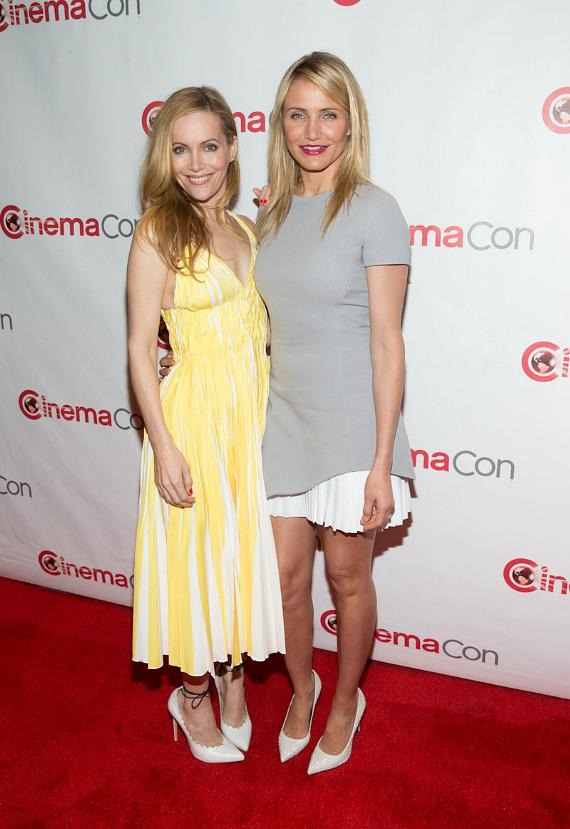 Leslie Mann and Cameron Diaz at CinemaCon 2014