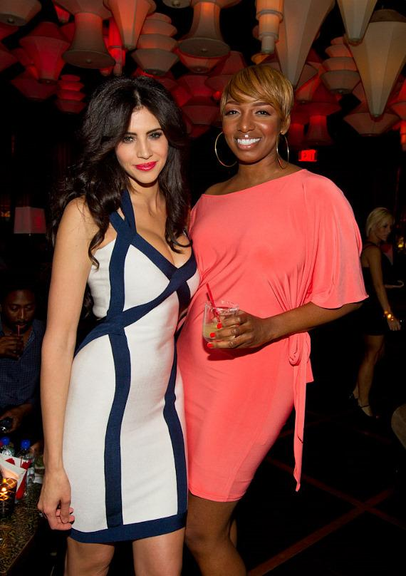 "Hope Dworaczyk and NeNe Leakes at ""The Celebrity Apprentice"" Viewing Party at Blush"