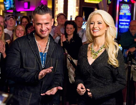 Mike 'The Situation' Sorrentino with Holly Madison at Planet Hollywood