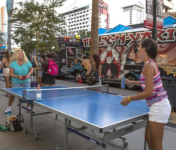 """Food trucks at """"Third Thursday on 3rd"""" at the Downtown Grand Las Vegas Hotel & Casino"""