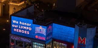 More than 50 Marquees Throughout Las Vegas Shine Blue to Recognize National Law Enforcement Appreciation Day