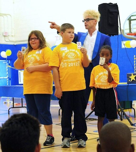 Magician Murray SawChuck performs for Boys & Girls Clubs of Henderson's 'Fun Day For Kids' Event