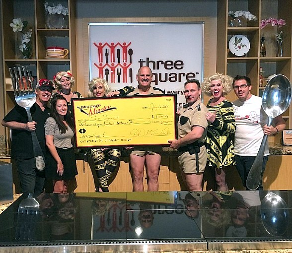 """""""Marriage Can Be Murder"""" at the D Las Vegas Participates in Restaurant Week; Donates $1,500 to Three Square"""