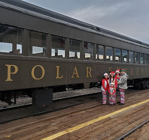 Ride the Polar Express Train This Christmas at Meet Santa at the North Pole