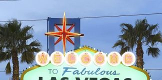 """Welcome to Fabulous Las Vegas"" Sign Goes Green for St. Patrick's Day"
