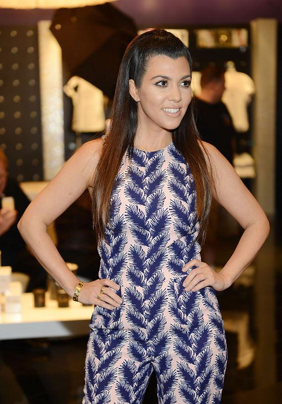 Kourtney Kardashian visits Kardashian Khaos at The Mirage in Las Vegas