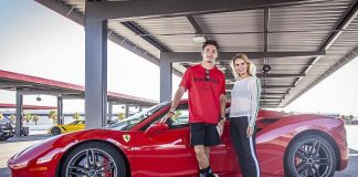 F1 Driver Charles Leclerc Breaks the Michelin Time Trial Challenge Record at Exotics Racing Las Vegas