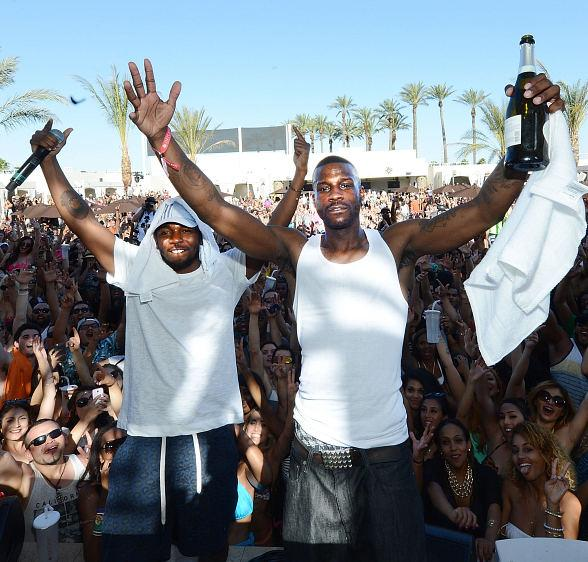 Kendrick Lamar and Jay Rock at DAYLIGHT Beach Club at Mandalay Bay