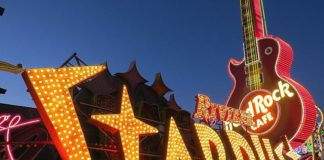 The Stardust Letters Have Been Re-Lamped and Are Illuminated in the Neon Museum Boneyard