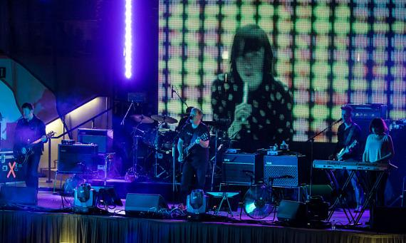 New Order performs at The Boulevard Pool at The Cosmopolitan of Las Vegas