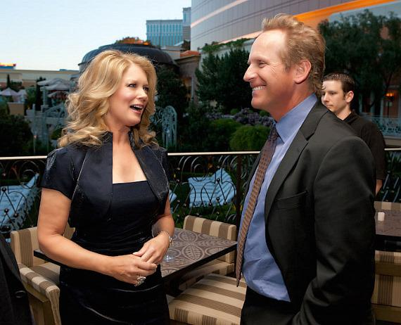 Mary Hart and CBS Television Distribution President John Nogawski