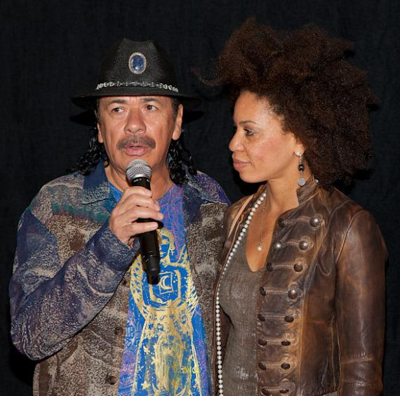 Carlos Santana and Cindy Blackman