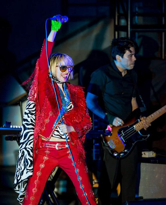 Yeah Yeah Yeahs perform at The Boulevard Pool at The Cosmopolitan of Las Vegas