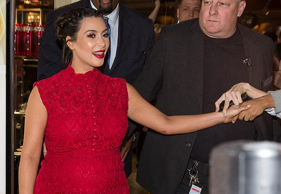 Kim Kardashian greets fans at Kardashain Khaos at The Mirage in Las Vegas