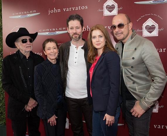 Willie Nelson, Gail Abarbanel, Darren Le Gallo, Amy Adams and John Varvatos