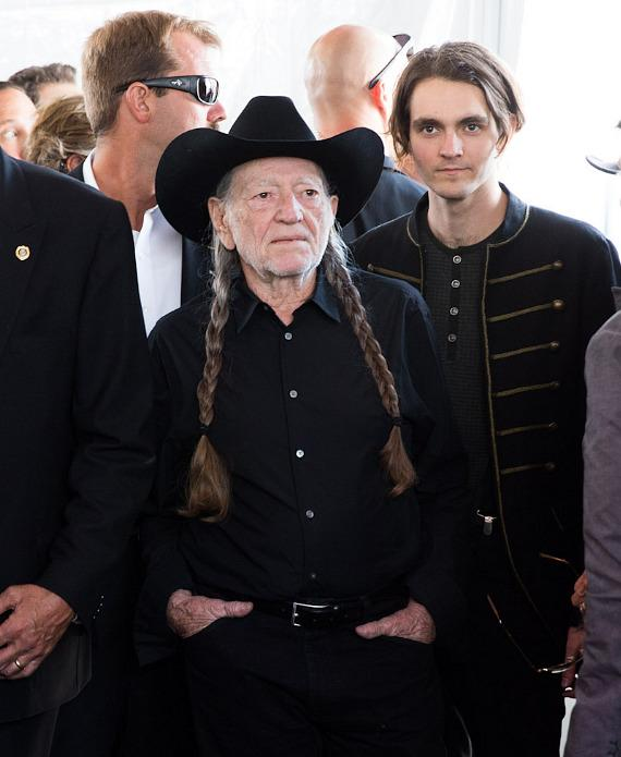 Willie Nelson and his son, Lukas