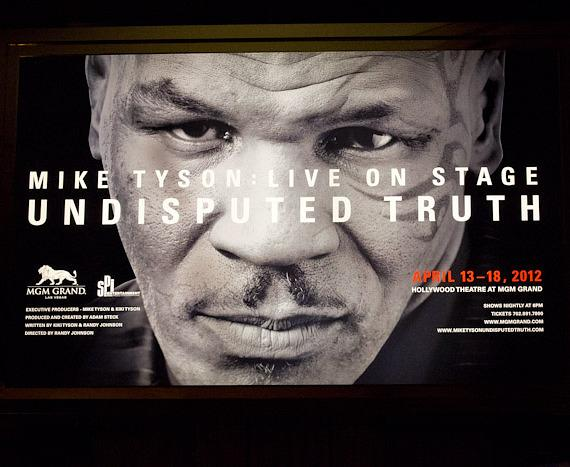 Poster for Mike Tyson's Undisputed Truth show in Las Vegas