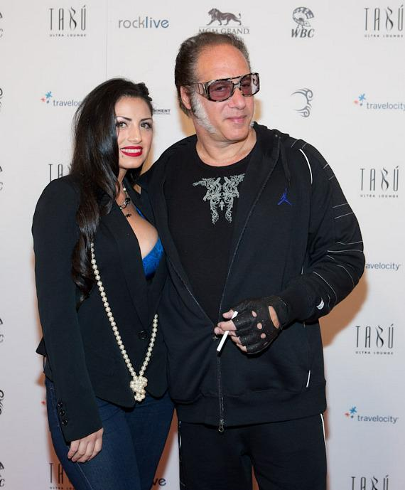 Comedian Andrew Dice Clay and his wife