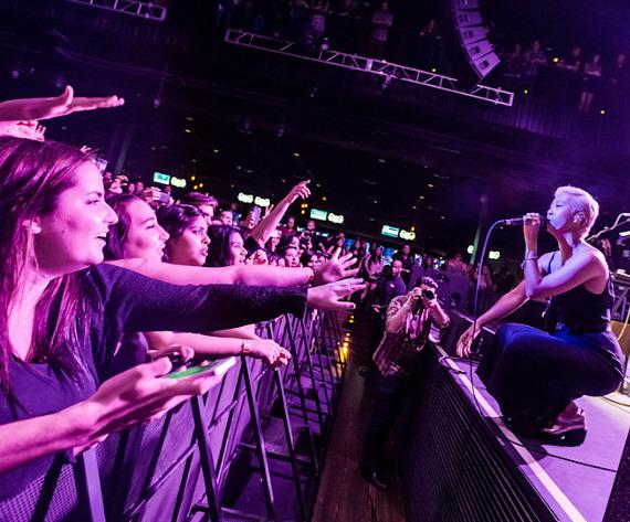 The Naked and Famous perform at Brooklyn Bowl Las Vegas at The LINQ in Las Vegas-34-570