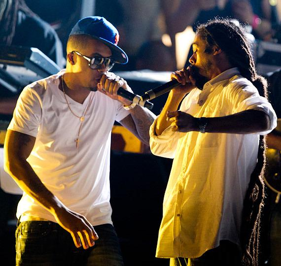 "Nas & Damian ""Jr. Gong"" Marley Perform at The Boulevard Pool at The Cosmopolitan Of Las Vegas"