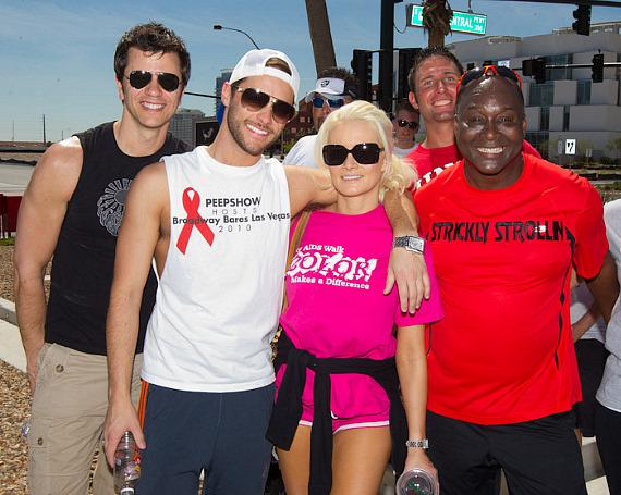 Josh Strickland and Holly Madison (Peepshow and Holly's World) and Larry Edwards (Divas Live)
