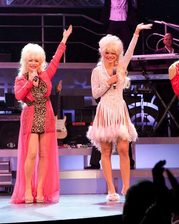 Maria Menounos appears as Dolly Parton in Legends in Concert at Harrah's